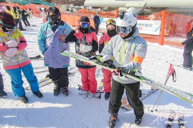 【韓國滑雪】韓國滑雪 一日團推薦:教學裝備費用全包,洪川大明滑雪村 @Alina 愛琳娜 嗑美食瘋旅遊