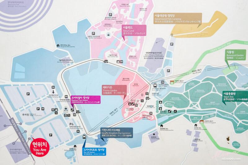 首爾大公園地圖交通