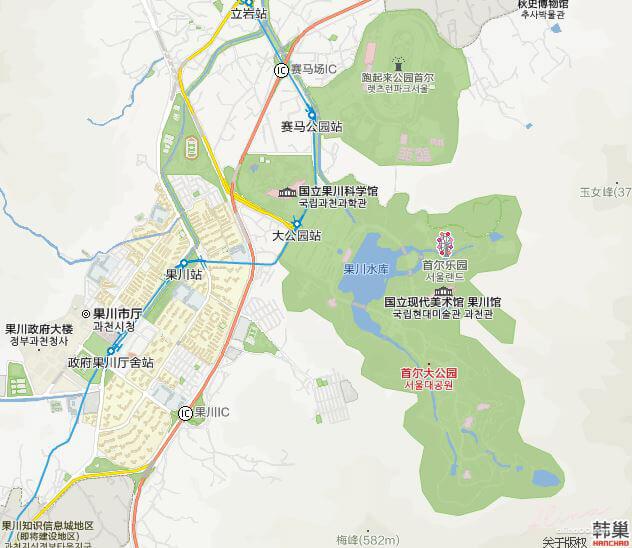 韓國京畿道果川市 首爾大公園 賽馬公園