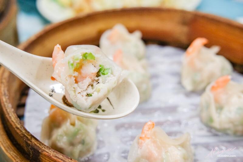 絲瓜蝦仁蒸餃