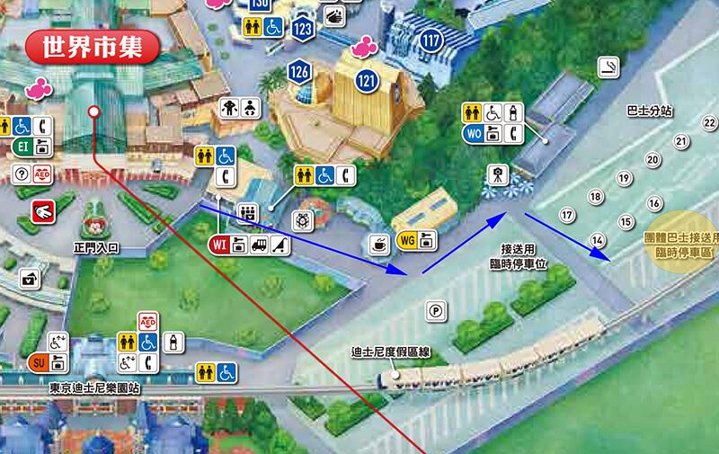 東京迪士尼陸地 搭車地點