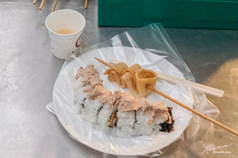廣藏市場鮪魚起司裸飯捲