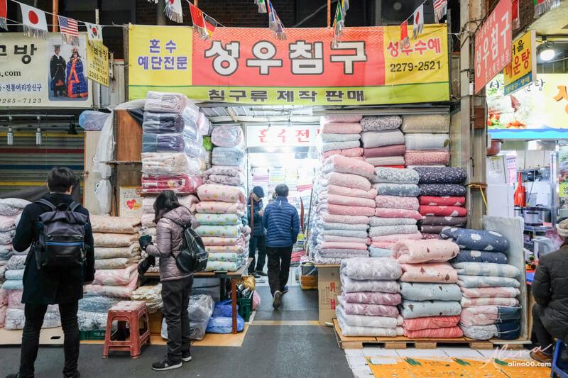 廣藏市場棉被店 성우수예