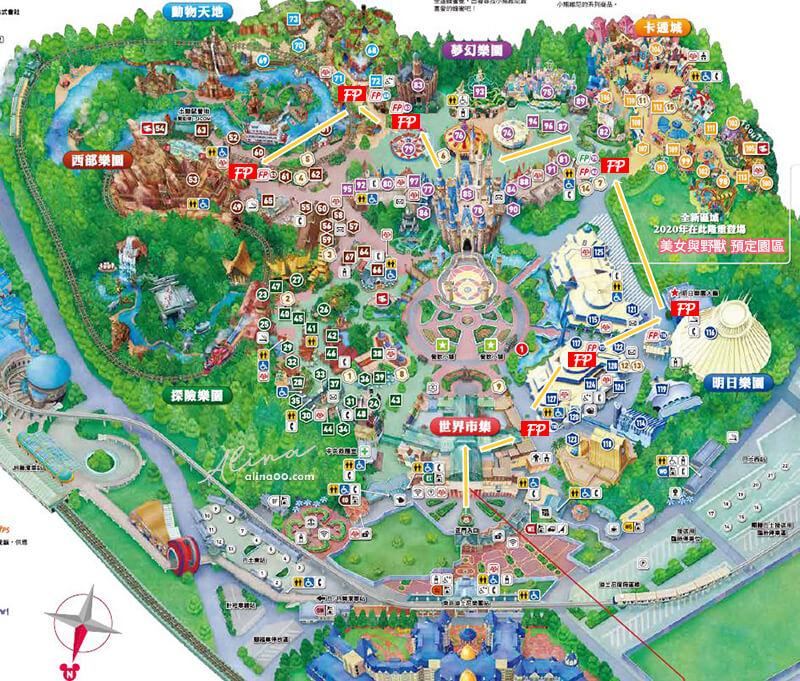 東京迪士尼陸地地圖