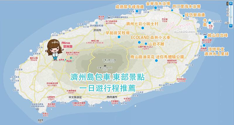濟州島包車推薦景點地圖