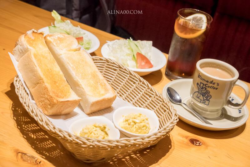 【名古屋美食】コメダ珈琲店 名古屋榮|吃早餐買咖啡送奶油吐司 @Alina 愛琳娜 嗑美食瘋旅遊