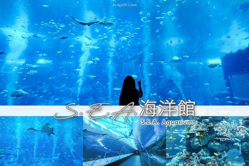 【新加坡景點】 S.E.A.海洋館-門票優惠購|巨大水族箱深海奇境之美 @Alina 愛琳娜 嗑美食瘋旅遊
