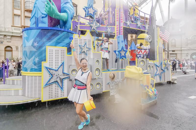 日本環球影城水花遊行