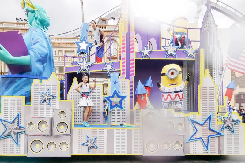 日本環球影城 水花驚喜遊行