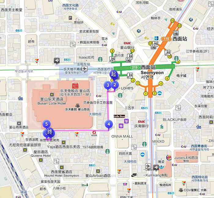 釜山烤肋排交通