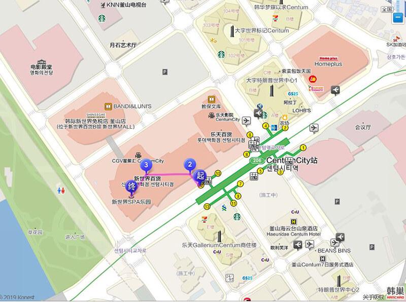釜山新世界 SPA LAND 交通方式