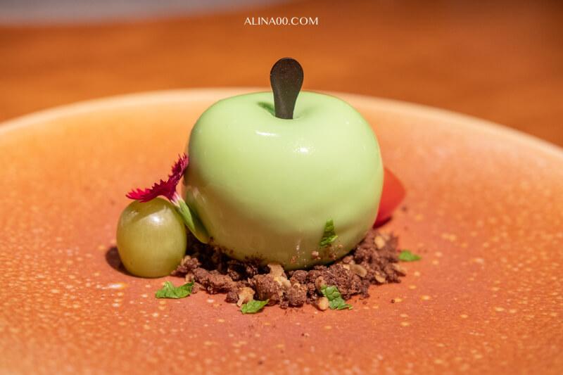 萊姆葡萄青蘋果慕斯