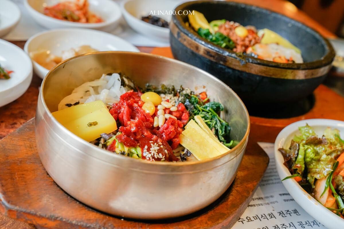 【韓國美食】韓國家-全州拌飯-全州韓屋村必吃的牛肉拌飯 @Alina 愛琳娜 嗑美食瘋旅遊