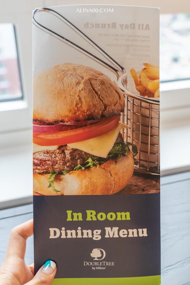 紐約時代廣場西希爾頓逸林飯店 客房服務點餐