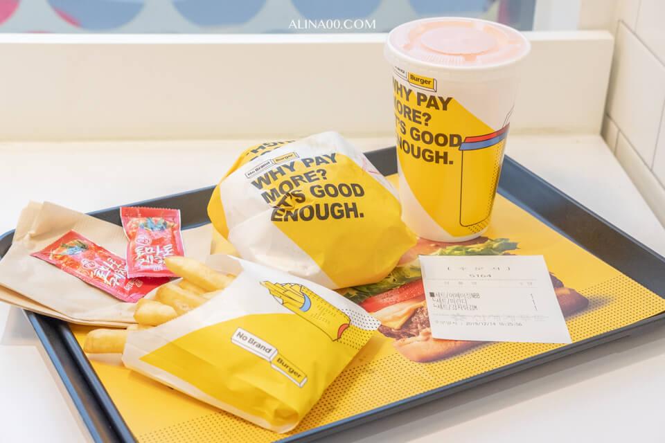 【首爾美食】 No Brand Burger 漢堡弘大店|韓國超市速食品牌 @Alina 愛琳娜 嗑美食瘋旅遊