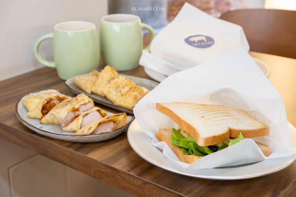 【食記】台北北門 富士山的豬 早午餐|手打豬肉三明治、麥香蛋餅香Q好吃 @Alina 愛琳娜 嗑美食瘋旅遊