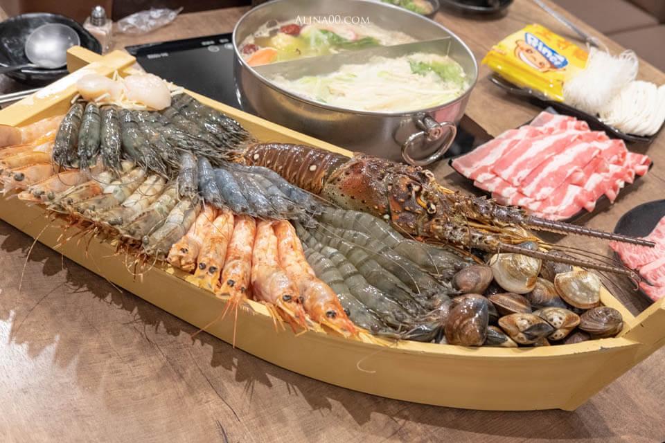 【台北美食】內湖-上官木桶鍋 |痛風火鍋海鮮船、美味牛肉盤 @Alina 愛琳娜 嗑美食瘋旅遊