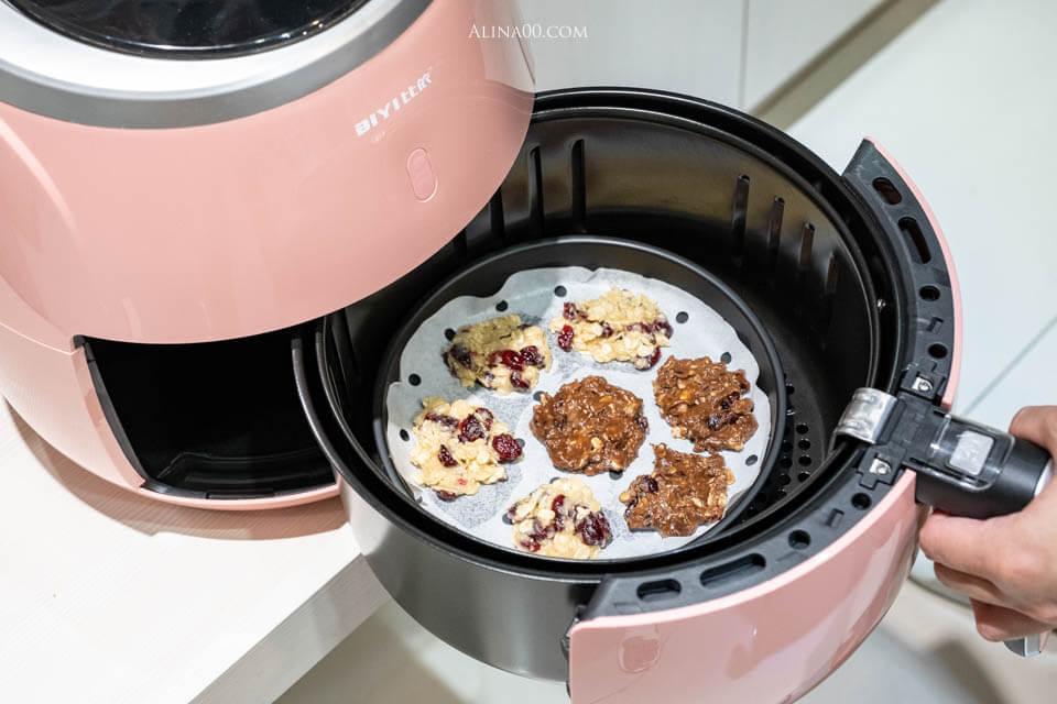 【氣炸鍋食譜】蔓越莓 燕麥餅乾食譜 |材料+做法一次成功!(烤箱也可以) @Alina 愛琳娜 嗑美食瘋旅遊