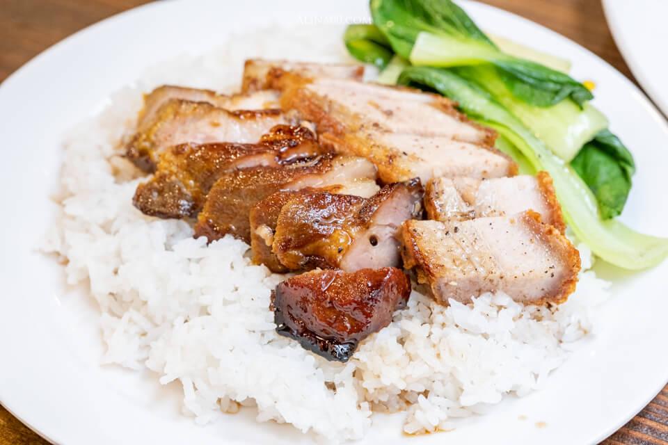 叉燒火肉雙拼飯