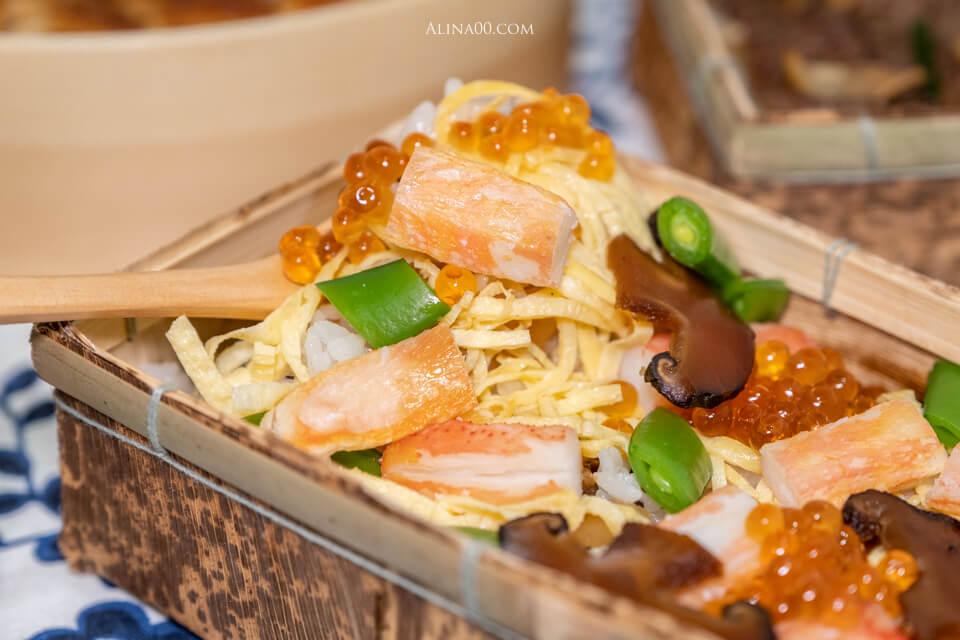 蟹肉散壽司