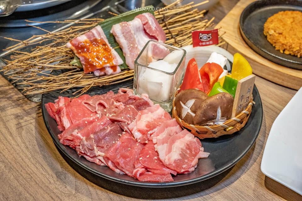 小豬樂石 牛豬韓國烤肉吃到飽
