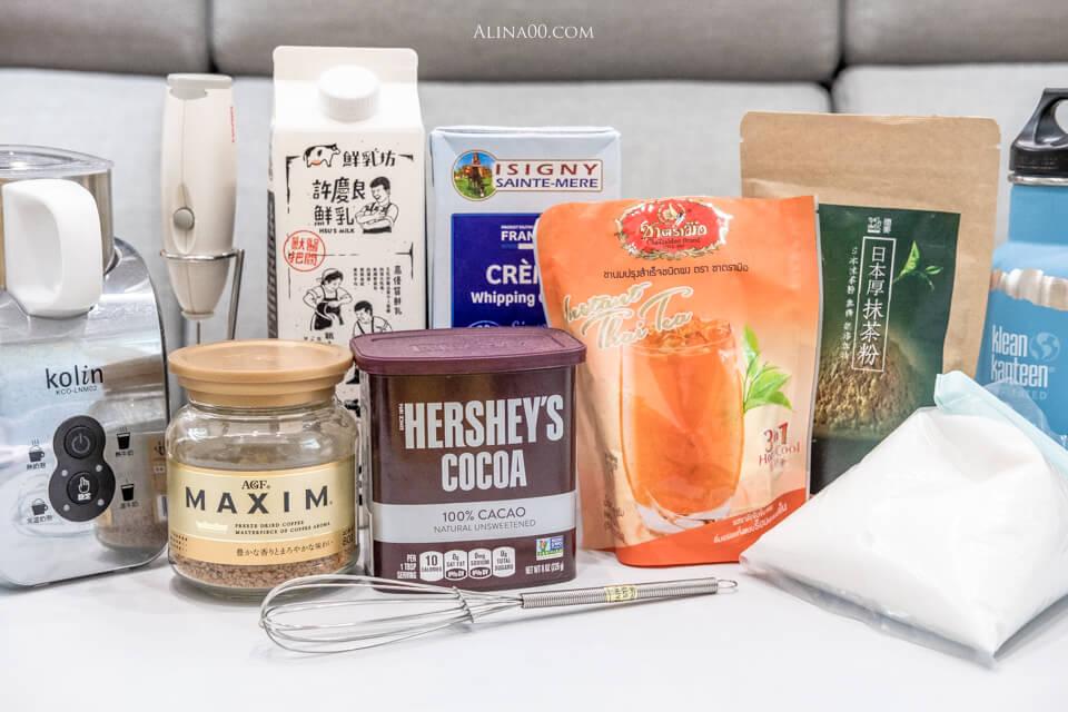 400次咖啡 抹茶 巧克力 泰奶 材料