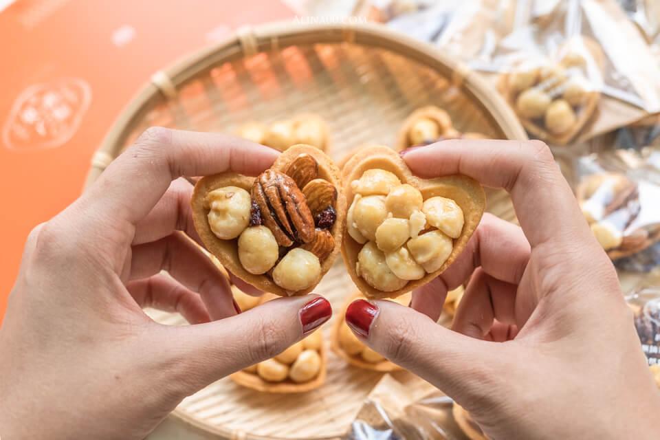 鴻鼎菓子 愛心堅果塔