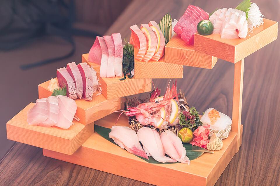 階梯生魚片