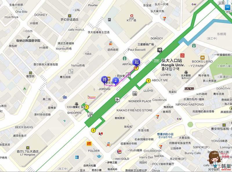 C27 弘大店 地圖交通路線