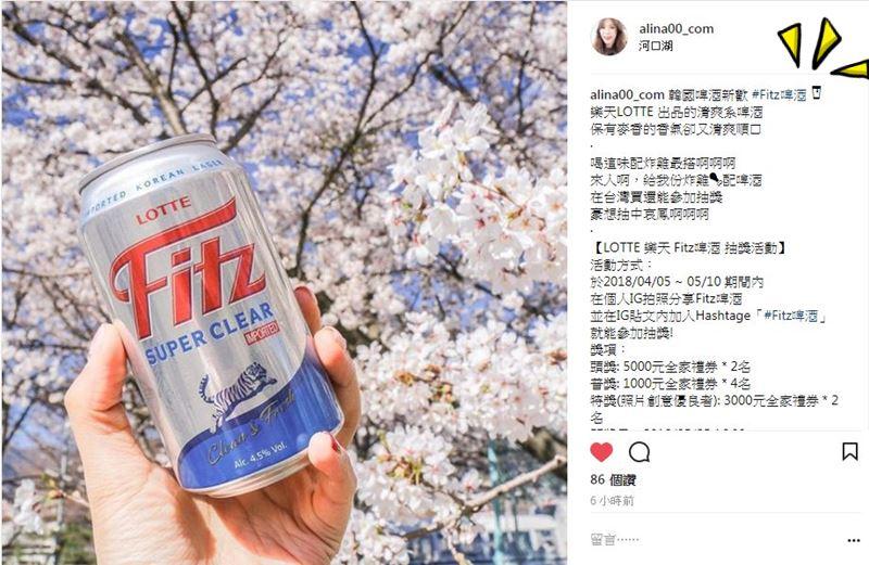 LOTTE 樂天Fitz啤酒