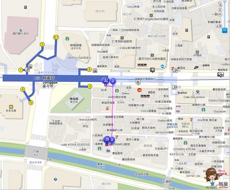 Hostel HARU民宿地圖交通路線