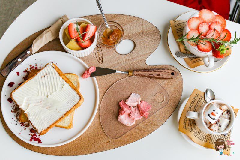 【首爾咖啡館】CETU CAFE 韓國咖啡館-冰雪奇緣 雪寶可可 夢幻調色盤吐司 @Alina 愛琳娜 嗑美食瘋旅遊