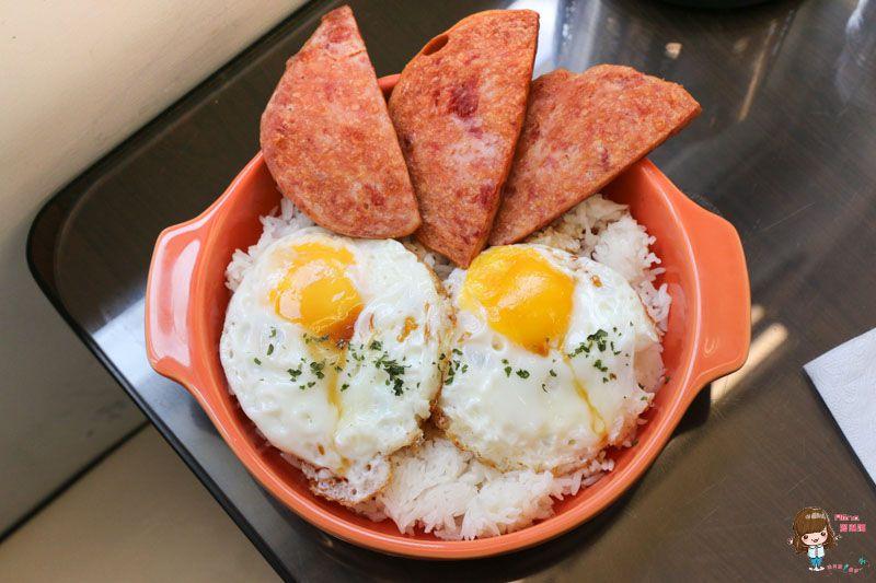 午餐肉雙蛋飯