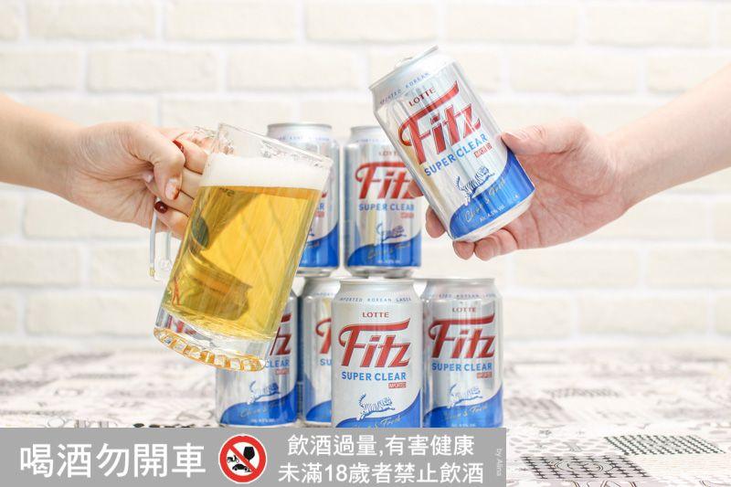 【韓國啤酒】LOTTE 樂天Fitz啤酒 Super Clear超清爽 新上市 來份炸雞配啤酒!