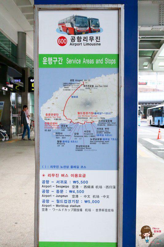 濟州島機場巴士600號路線地圖