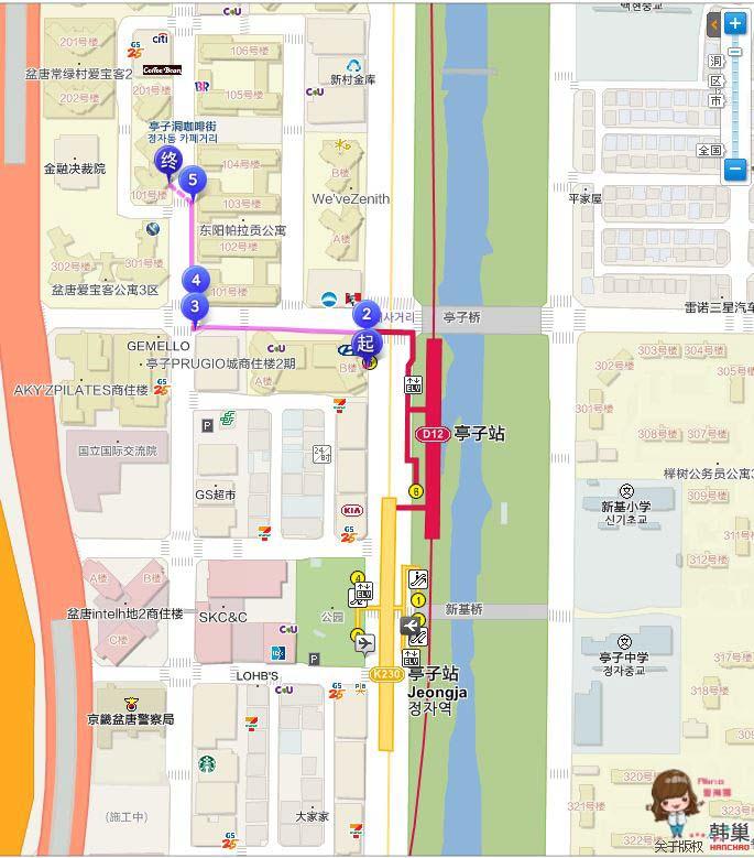 亭子洞咖啡街地圖